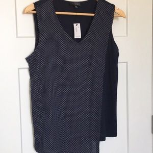 The Limited polka dot sleeveless top NEW size med